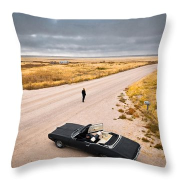 Throw Pillow featuring the photograph Girl Of The Golden West by Carl Young