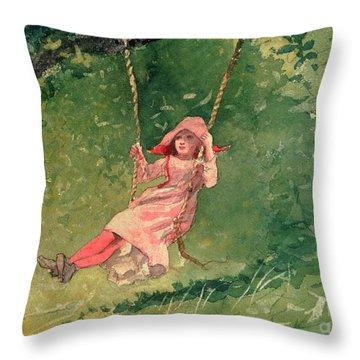 Pink Tree Throw Pillows