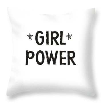 Girl Power- Design By Linda Woods Throw Pillow