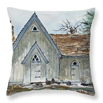 Girl Scout Little House Throw Pillow by Monte Toon