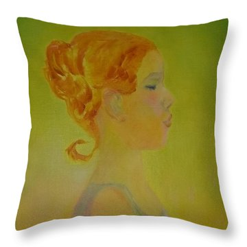 The Girl With The Curl Throw Pillow
