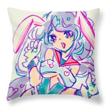Girl02 Throw Pillow