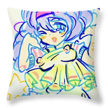 Girl04 Throw Pillow