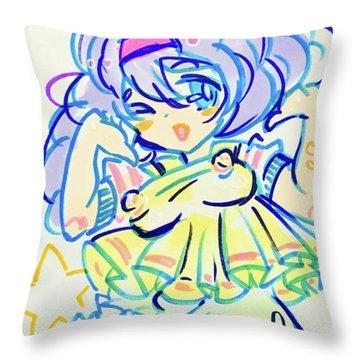 Girl04 Throw Pillow
