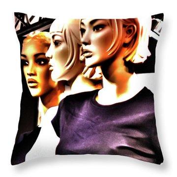 Girls_09 Throw Pillow