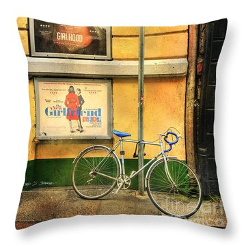 Girlfriend Bicycle Throw Pillow