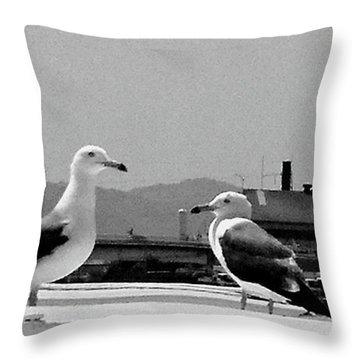Girlfriends Throw Pillow by Shunsuke Kanamori