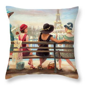 Girls Day Out Throw Pillow