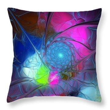 Throw Pillow featuring the digital art Girls Love Pink by Karin Kuhlmann