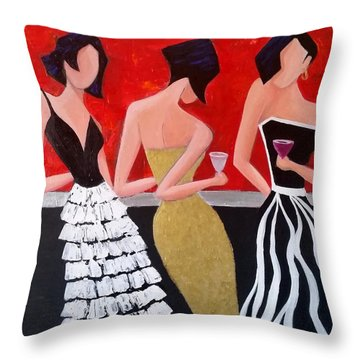 Girl's Night Out Throw Pillow