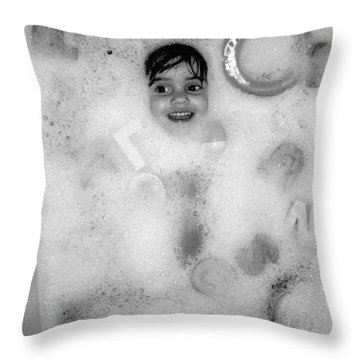Girls Who Love Bubble Baths..grow Up To Be Woman Who Love Bubble Baths Throw Pillow