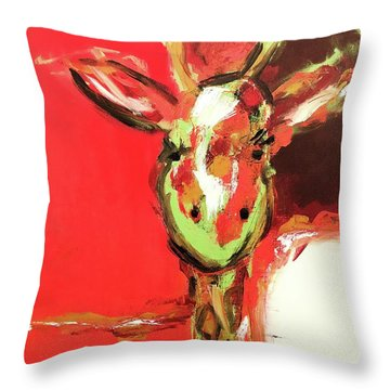 Giselle The Giraffe Throw Pillow