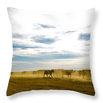 Git Along Throw Pillow