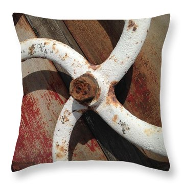Throw Pillow featuring the photograph Give It A Turn by Olivier Calas