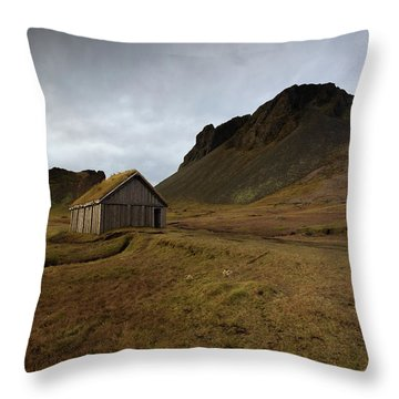 Throw Pillow featuring the photograph Give Me Shelter by Allen Biedrzycki