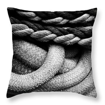 Give Them Some Rope Throw Pillow by Skip Hunt
