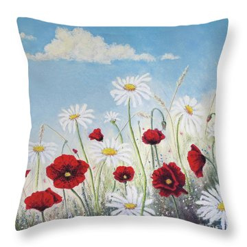 Give Me A Daisy Throw Pillow