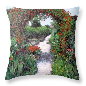 Giverney Garden Path Throw Pillow