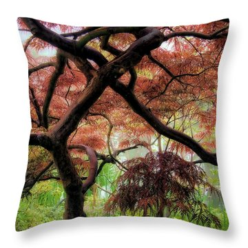 Giverny Gardens Throw Pillow by Jim Hill