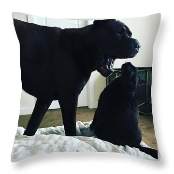 Giving Orders Throw Pillow