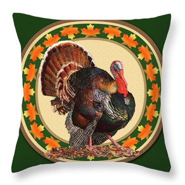 Throw Pillow featuring the mixed media Giving Thanks by John Dyess