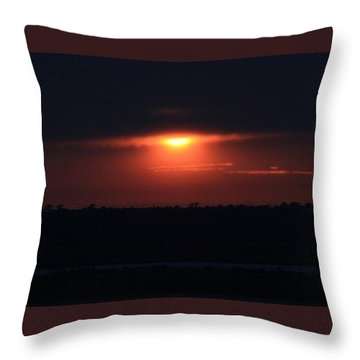Giving Way To The Night Throw Pillow by John Glass