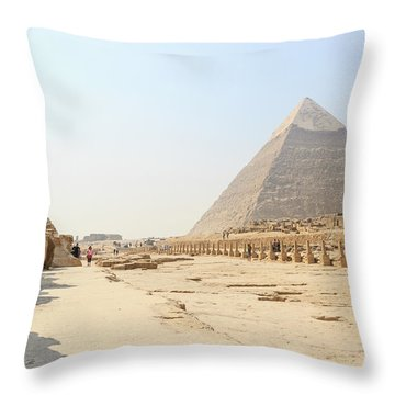 Throw Pillow featuring the photograph Giza by Silvia Bruno