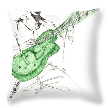Gj Guitar  Throw Pillow