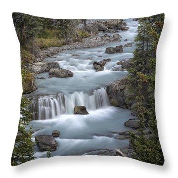 Glacial Flow Throw Pillow