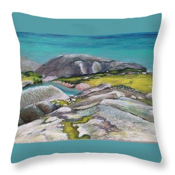 Glacial Lake Throw Pillow