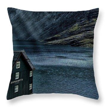 Glacial Lake Throw Pillow