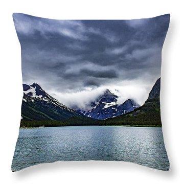 Glacial Getaway Throw Pillow
