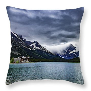 Glacial Getaway Throw Pillow