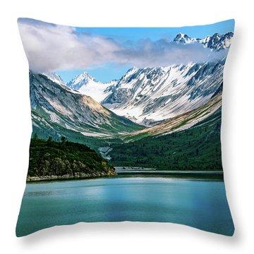 Glacial Valley Throw Pillow