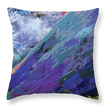 Glacial Vision Throw Pillow
