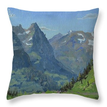 Glacier Afternoon Throw Pillow