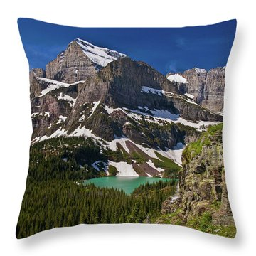 Throw Pillow featuring the photograph Glacier Backcountry 2 by Gary Lengyel
