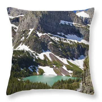 Glacier Backcountry Throw Pillow by Gary Lengyel
