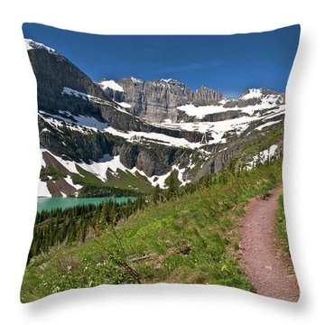 Throw Pillow featuring the photograph Glacier Backcountry Trail by Gary Lengyel
