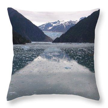 Glacier Blues Throw Pillow