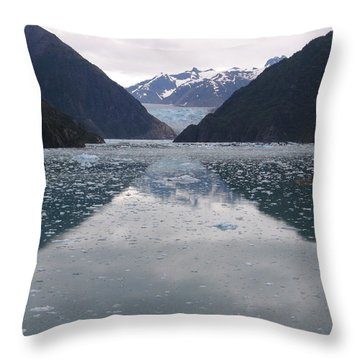Glacier Blues Throw Pillow