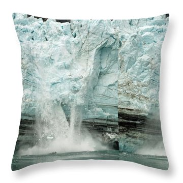 Glacier Calving Sequence 1 Throw Pillow