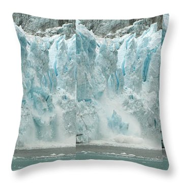 Glacier Calving Sequence 2 V1 Throw Pillow