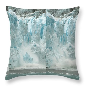 Glacier Calving Sequence 2 V2 Throw Pillow