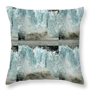 Glacier Calving Sequence 3 Throw Pillow