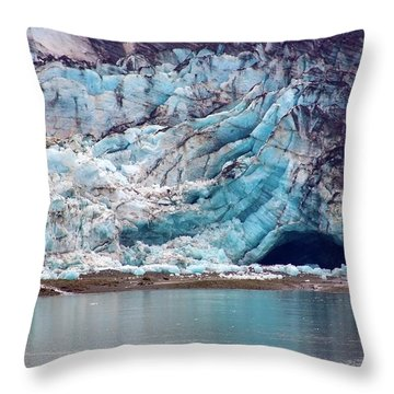 Glacier Cave Throw Pillow