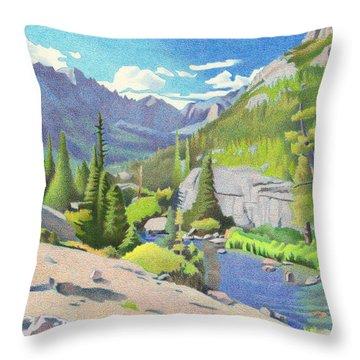 Glacier Gorge Throw Pillow