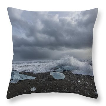 Glacier Ice 2 Throw Pillow by Kathy Adams Clark