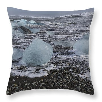 Glacier Ice 3 Throw Pillow