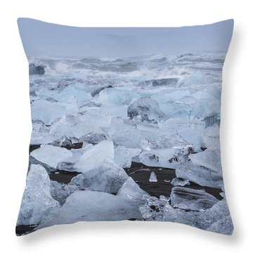 Glacier Ice Throw Pillow